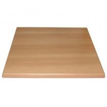 Bolero Square Pre-drilled Table Top Beech 600mm