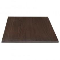 Bolero Square Pre-drilled Table Top Dark Brown 600mm