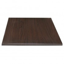 Bolero Square Pre-drilled Table Top Dark Brown 700mm