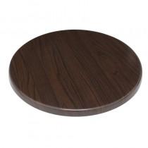 Bolero Round Pre-drilled Table Top Dark Brown 600mm