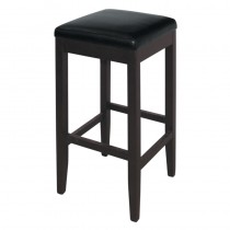 Bolero Faux Leather High Bar Stools Black