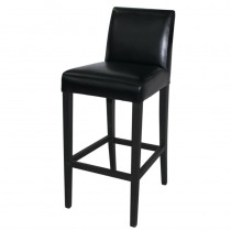Bolero Faux Leather High Bar Stool Black