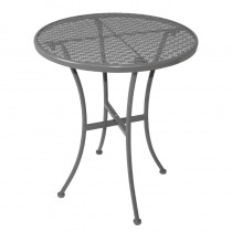 Bolero Grey Steel Patterned Round Bistro Table 600mm