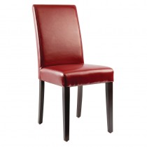 Bolero Faux Leather Dining Chairs Red