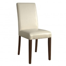 Bolero Faux Leather Dining Chairs Cream