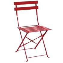 Bolero Red Pavement Style Steel Folding Chairs Red