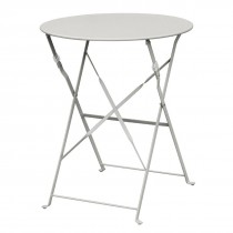 Bolero Grey Round Pavement Style Steel Table