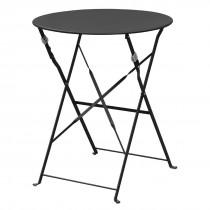 Bolero Black Round Pavement Style Steel Table