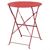 Bolero Red Pavement Style Steel Table 595mm