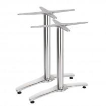 Bolero Aluminium Twin Leg Table Base