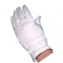 White Cotton Gloves 10 Pairs