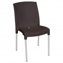 Bolero Stacking Bistro Side Chairs Black