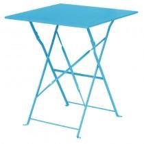 Bolero Seaside Blue Square Pavement Style Steel Table