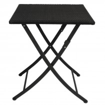 Bolero PE Wicker Folding Square Table