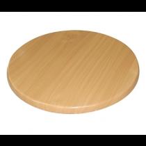 Bolero Round Table Top Beech Effect 800mm