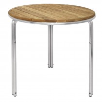 Bolero Round Ash & Aluminium Table 600mm