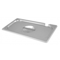 Stainless Steel Gastronorm Notched Pan Lid 1/4