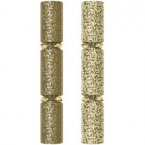 """Gold Holly Swirl Crackers 11"""""""