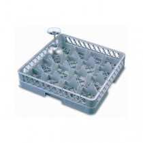 16 Compartment Glass Rack Dark Grey