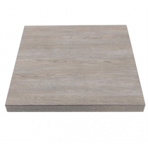 Bolero Square Table Top Vintage Wood 600mm