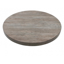 Bolero Round Table Top Vintage Wood 600mm