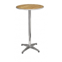 Bolero Round Poseur Table Ash 600mm