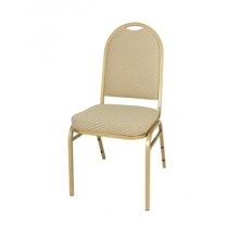 Bolero Steel Banquet Chairs with Neutral Cloth