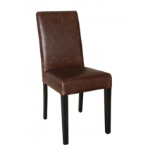 Bolero Faux Leather Dining Chairs Antique Tan