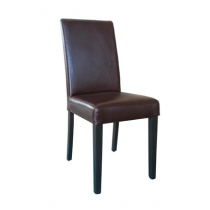 Bolero Faux Leather Dining Chair Antique Brown
