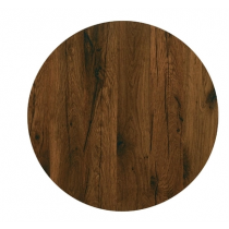Werzalit Round Table Top Antique Oak 700mm