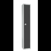 Elite Single Door Camlock Locker with Flat Top Graphite Grey 300mm