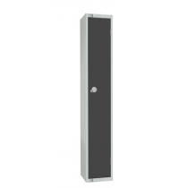 Elite Single Door Padlock Locker with Flat Top Graphite Grey 300mm