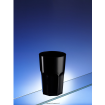 Black Tough Plastic SAN Tumbler 350ml