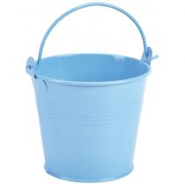 Galvanised Steel Serving Bucket Blue 10cm