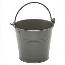 Galvanised Steel Serving Bucket Dark Olive 10cm