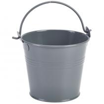 Galvanised Steel Serving Bucket Grey 10cm