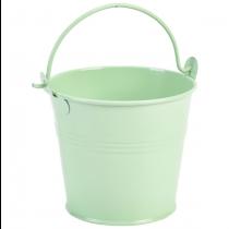 Galvanised Steel Serving Bucket Green 10cm