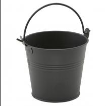 Galvanised Steel Serving Bucket Matt Black 10cm