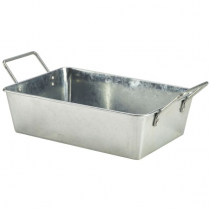 Galvanised Steel Rectangular Serving Bucket