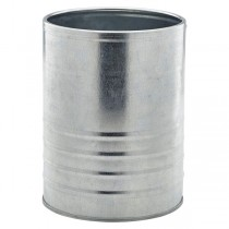 Galvanised Steel Can 11 x 14.5cm