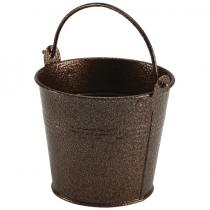 Galvanised Steel Hammered Serving Bucket Copper 10cm
