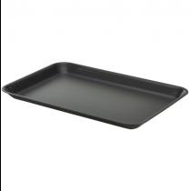 Galvanised Steel Tray Black 31.5 x 21.5 x 2cm