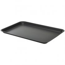 Galvanised Steel Serving Tray Matt Black 37 x 26.5 x 2cm