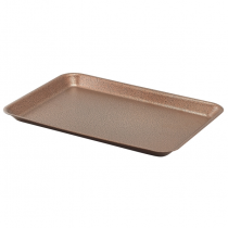 Galvanised Steel Serving Tray Hammered Copper 37 x 26.5 x 2cm