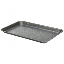 Galvanised Steel Serving Tray Hammered Silver 37 x 26.5 x 2cm