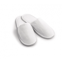 Mitre Essentials Honeycomb Closed Toe Slippers White