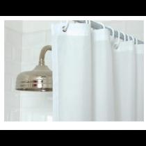 Mitre Essentials Plain Shower Curtain White