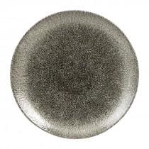 Churchill Studio Prints Raku Coupe Plate Quartz Black 26cm