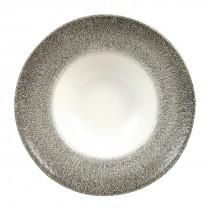 Churchill Studio Prints Raku Wide Rim Bowl Quartz Black 28cm