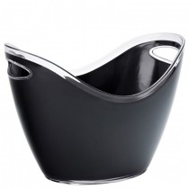 Large Champagne Bucket Black